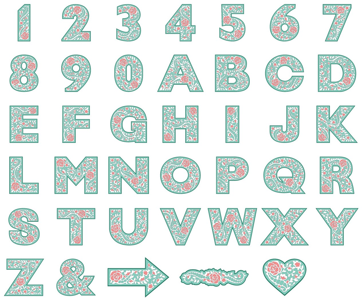 Cricut Cartridges Monogram Font