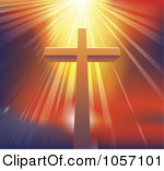 Cross with Shining Light Clip Art