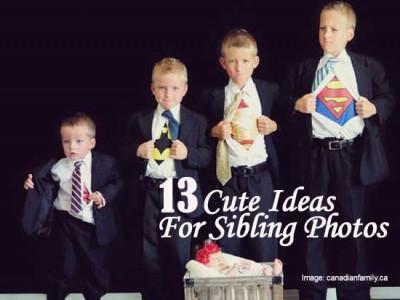 Cute Sibling Photo Shoot Ideas