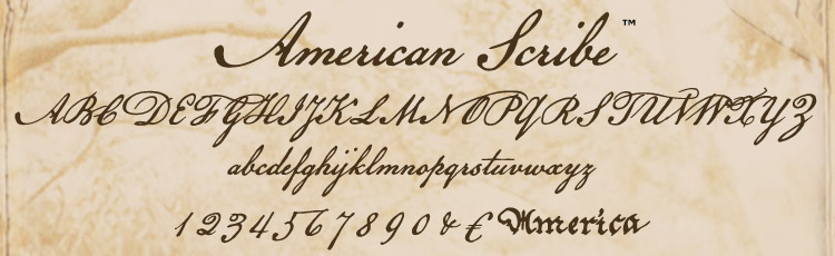 6 American Scribe Font Images