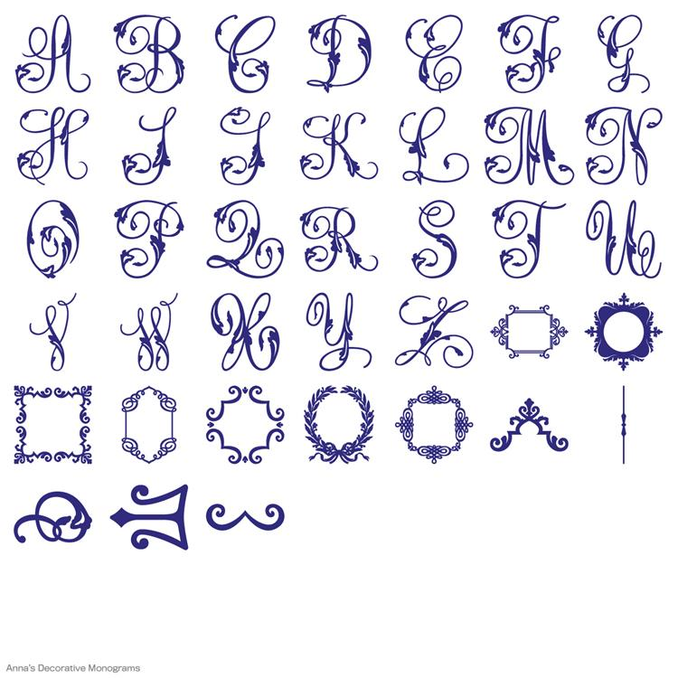 Decorative Monograms Cricut Cartridge Anna Griffin