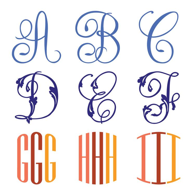 Decorative Monograms Cricut Cartridge Anna Griffin