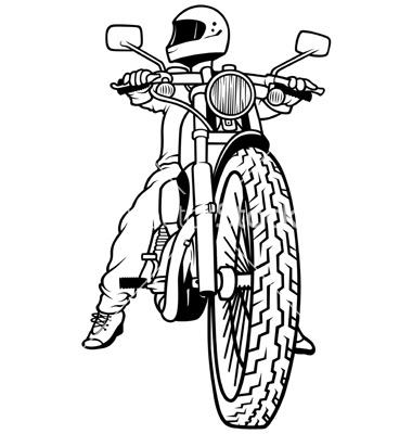 Drawing Cartoon Motorcycle Riders