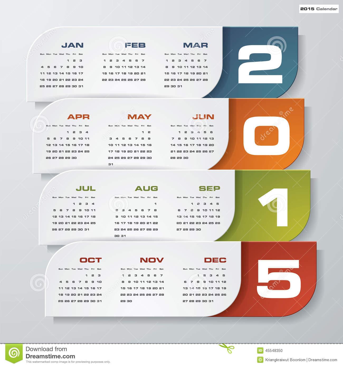 Editable 2015 12 Month Calendar