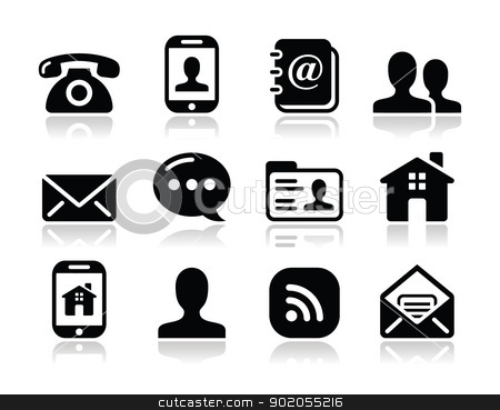Email Phone Web Icons