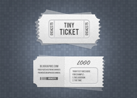 Event Admission Ticket Template