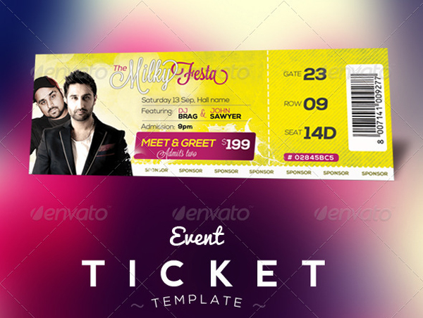 Event Ticket Template Free Download