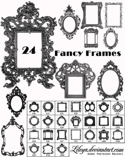 Fancy Photoshop Frame Brushes