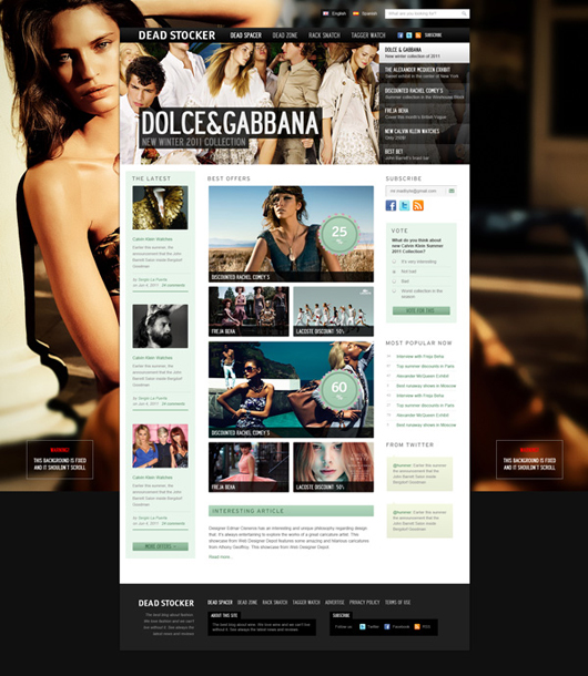 Fashion Design Website Templates Free