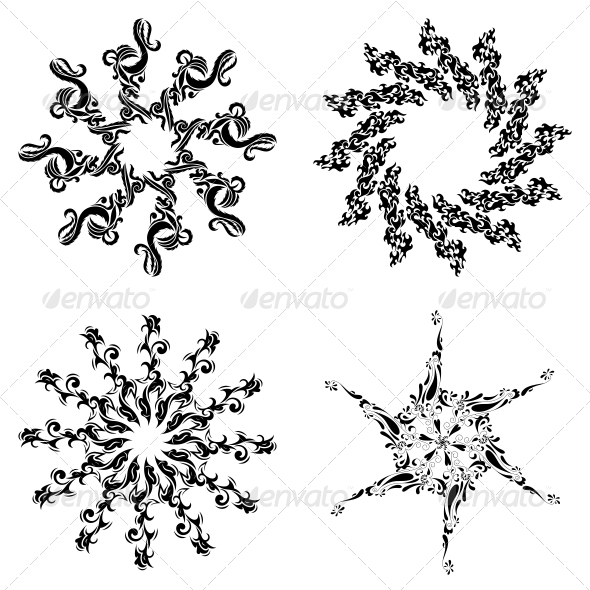 19 Circular Designs Vector Images