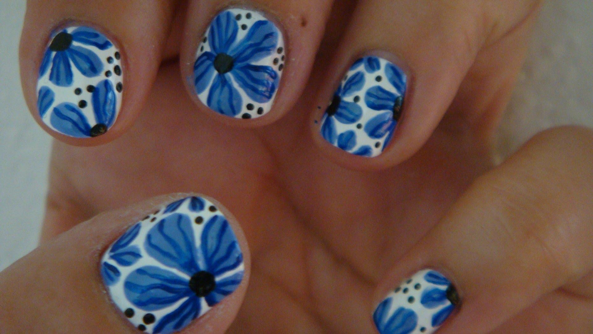 Flower Nail Art Design Tutorial