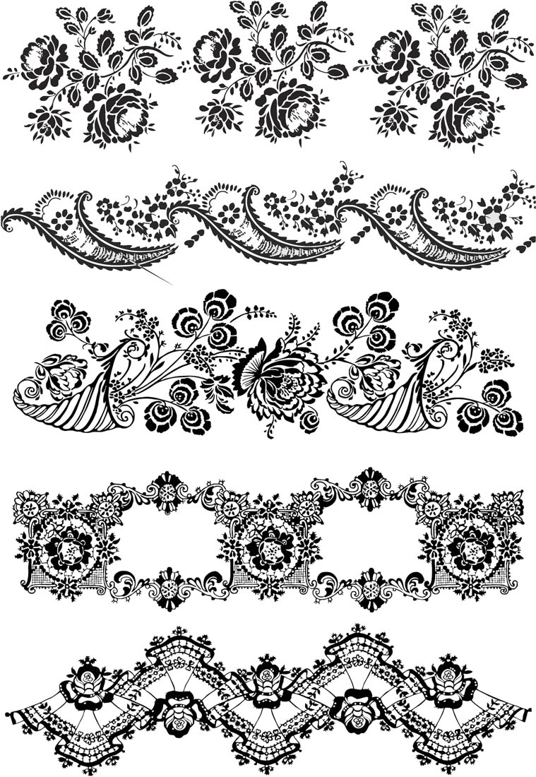 Flower Vector Ornaments