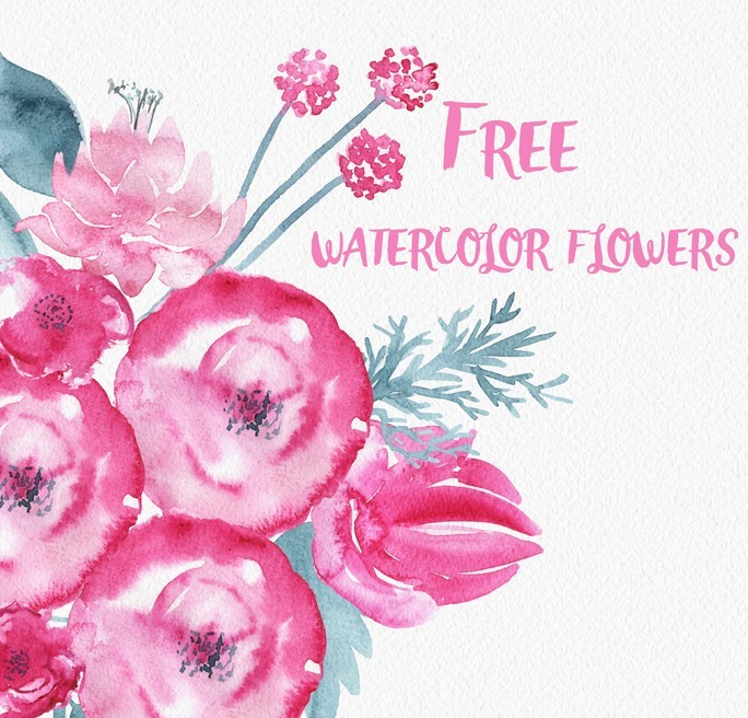 Flower Watercolor Free Download