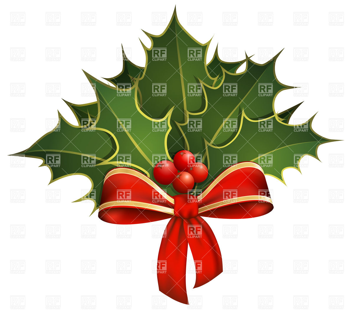 Christmas holly clip art vector images free