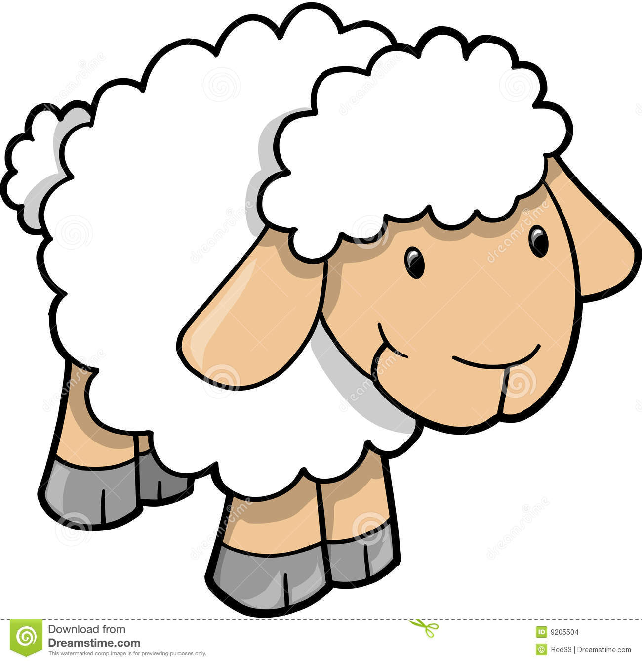 15 Free Vector Clip Art Sheep Images