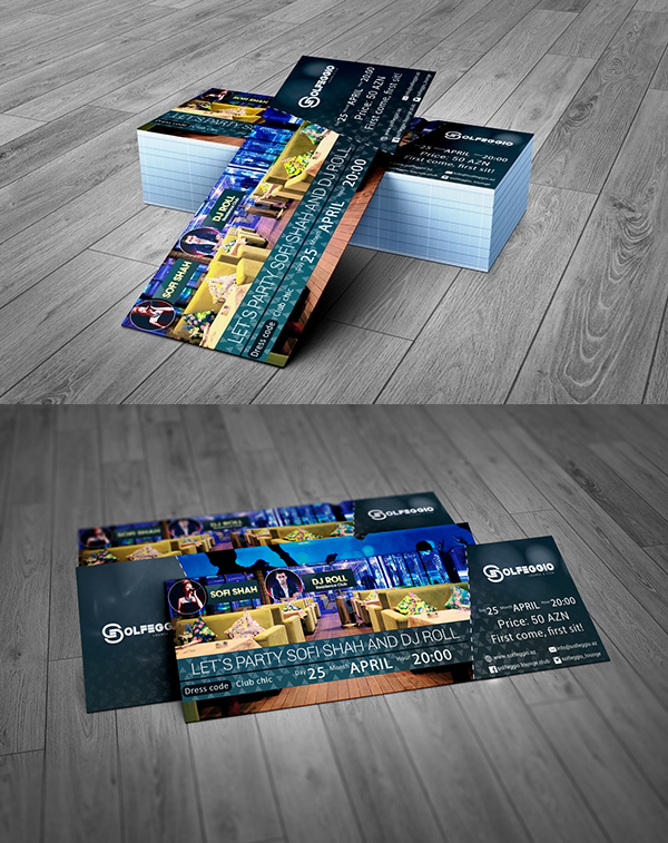 Free Graphic Event Ticket Template