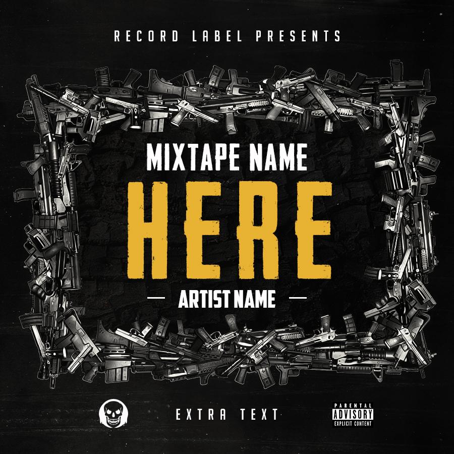 Free Hip Hop Mixtape Cover Psd