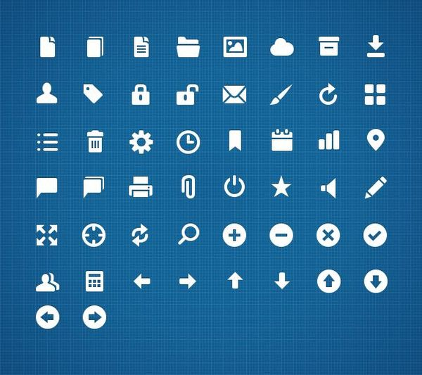 11 Free UI Icons PSD Images