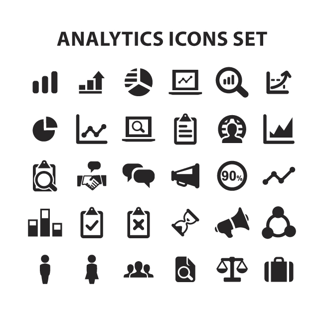 12 Website Analytics Vector Icons Images