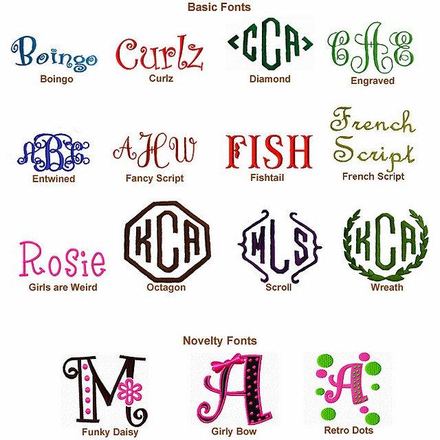 Free Letter Monogram Fonts