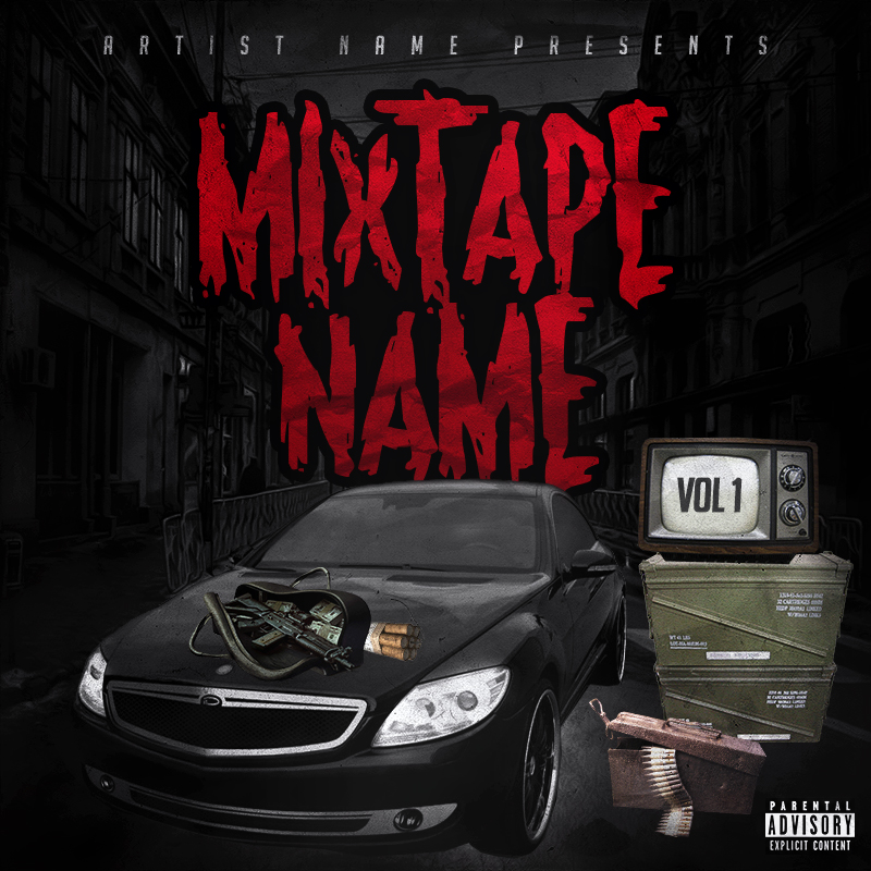 13 Free Mixtape Cover PSD Templates Images
