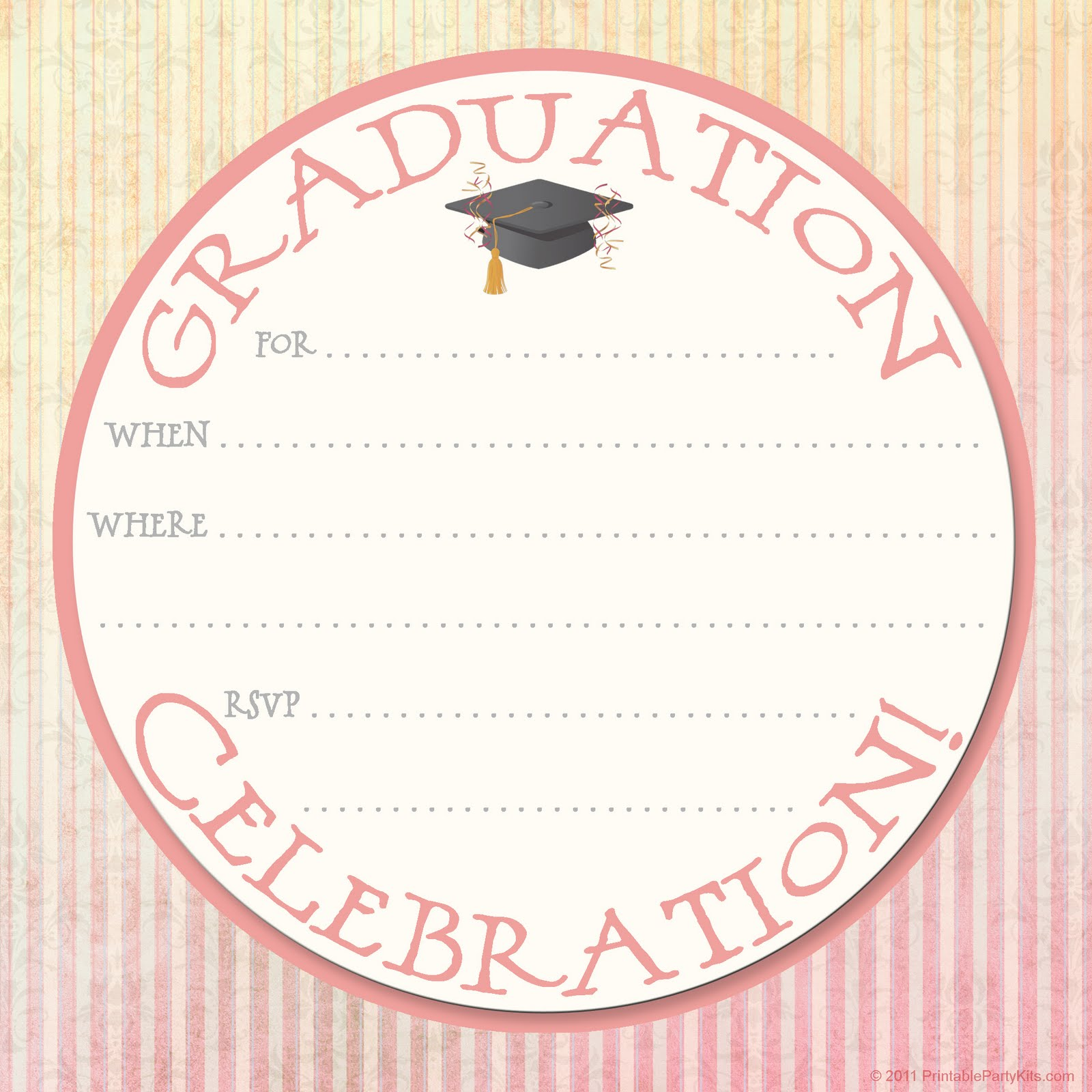photo about Printable Graduation Announcements identified as 8 Invitation Style Templates Photographs - Wedding day Invitation