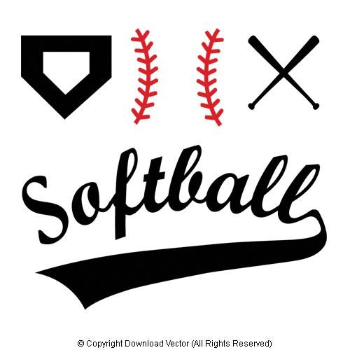 Free Softball Vector Clip Art