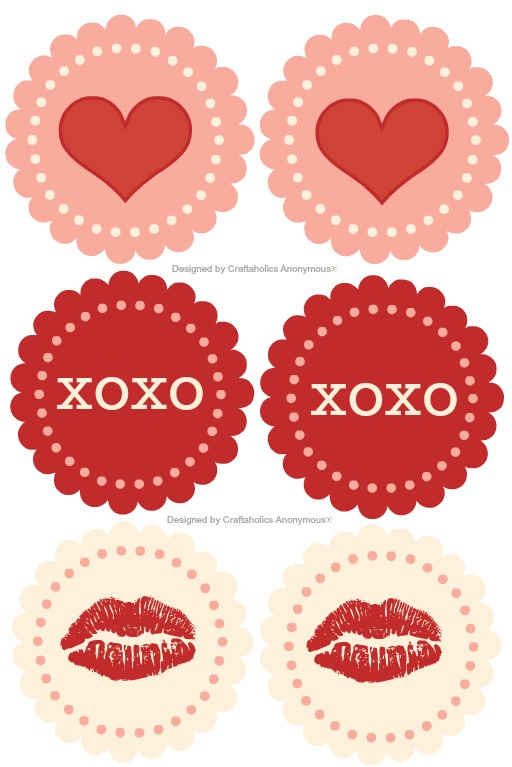 Free Valentine's Printable Cupcake Toppers