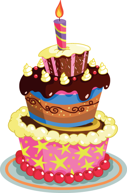 Free Vector Birthday Cake