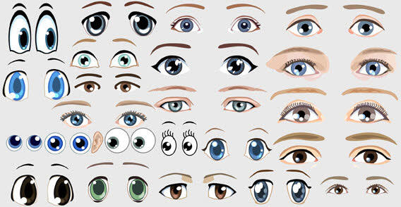 16 Eyes Vector Graphics Images