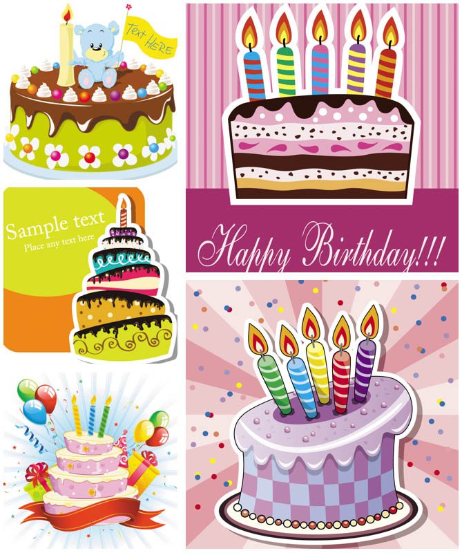 Free Vector Clip Art Birthday Cake