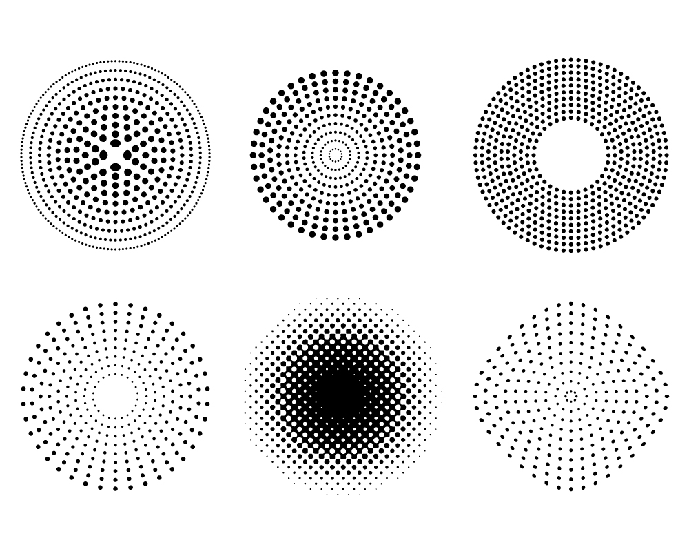 12 Free Vector Dot Patterns Images