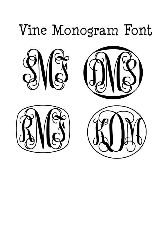 17 cricut monogram fonts images