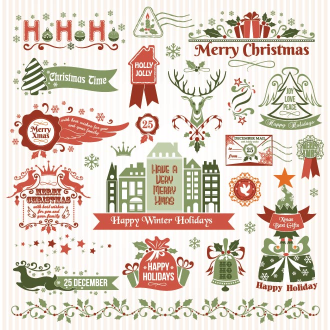 11 Merry Christmas Vectors Free Images - Clackamas County, Merry Christmas Ve...
