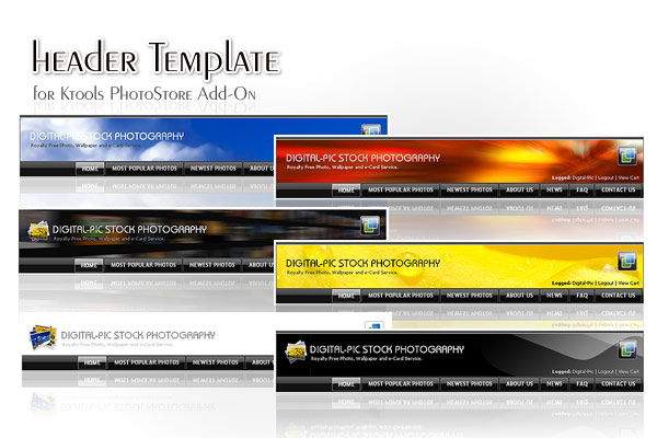 16 Business E-News Header Template Designs Images