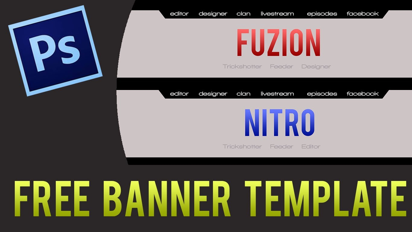 free youtube banner templates - 11 youtube banner template psd images youtube banner