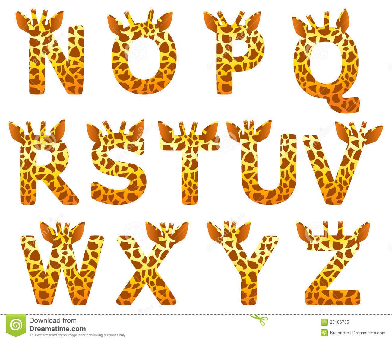 6 Animal Skin Font Letters Images