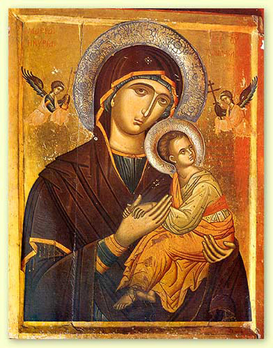 Greek Orthodox Mary and Jesus