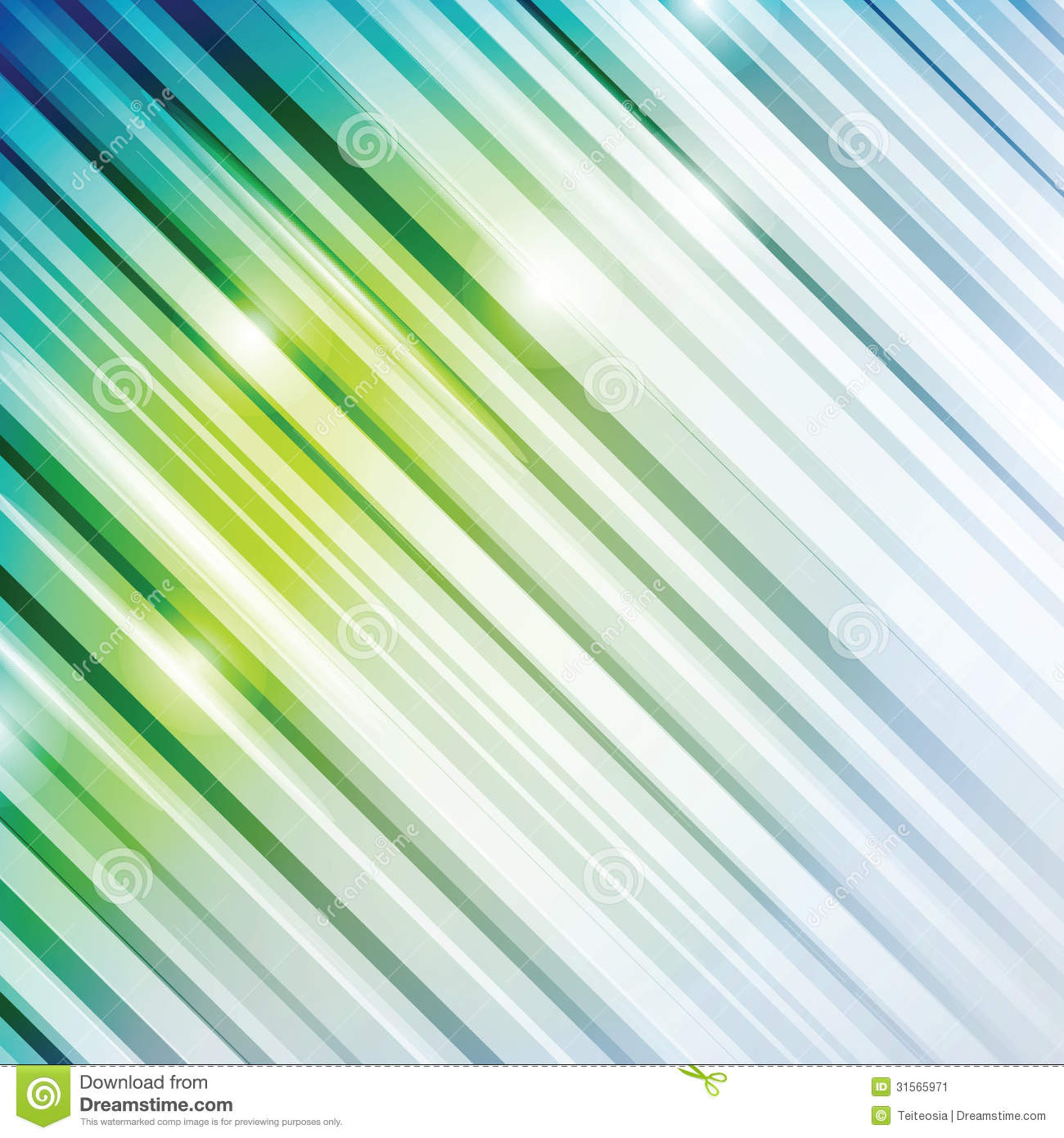 Green Abstract Background Vector Lines
