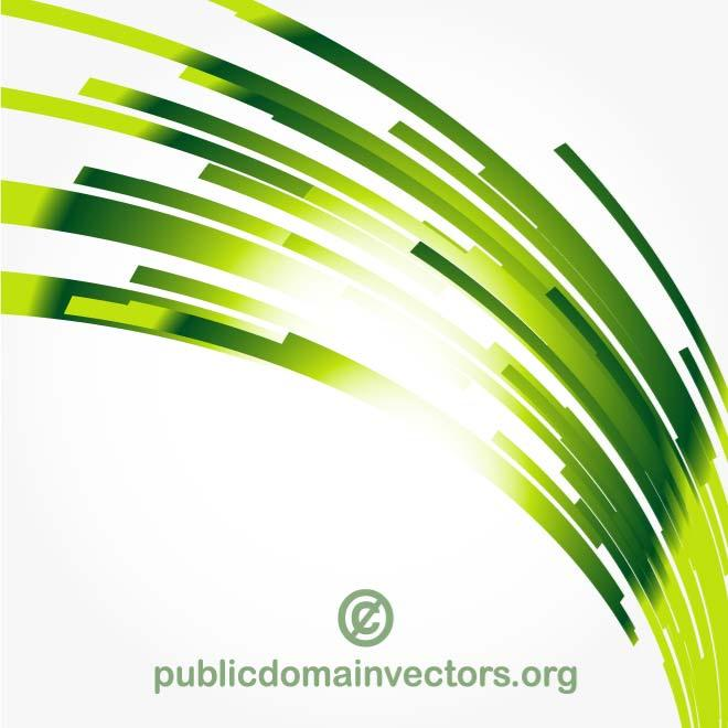 Green Abstract Line Vector