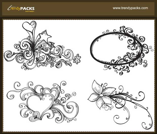 Hand Drawn Free Vector Ornaments