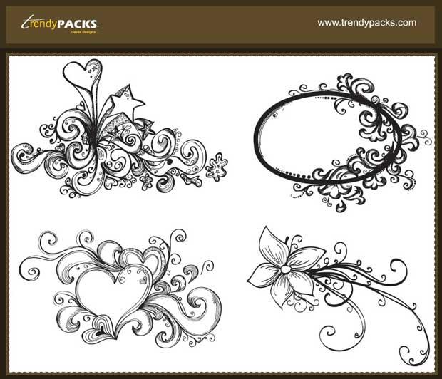 Hand Drawn Free Vector Ornaments