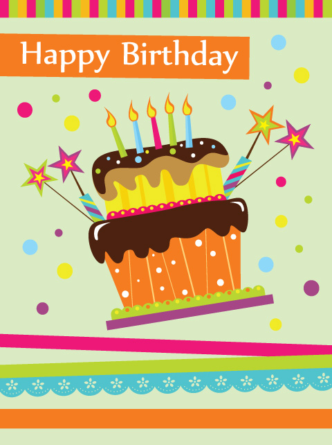 12 Happy Birthday Cake Vector Images