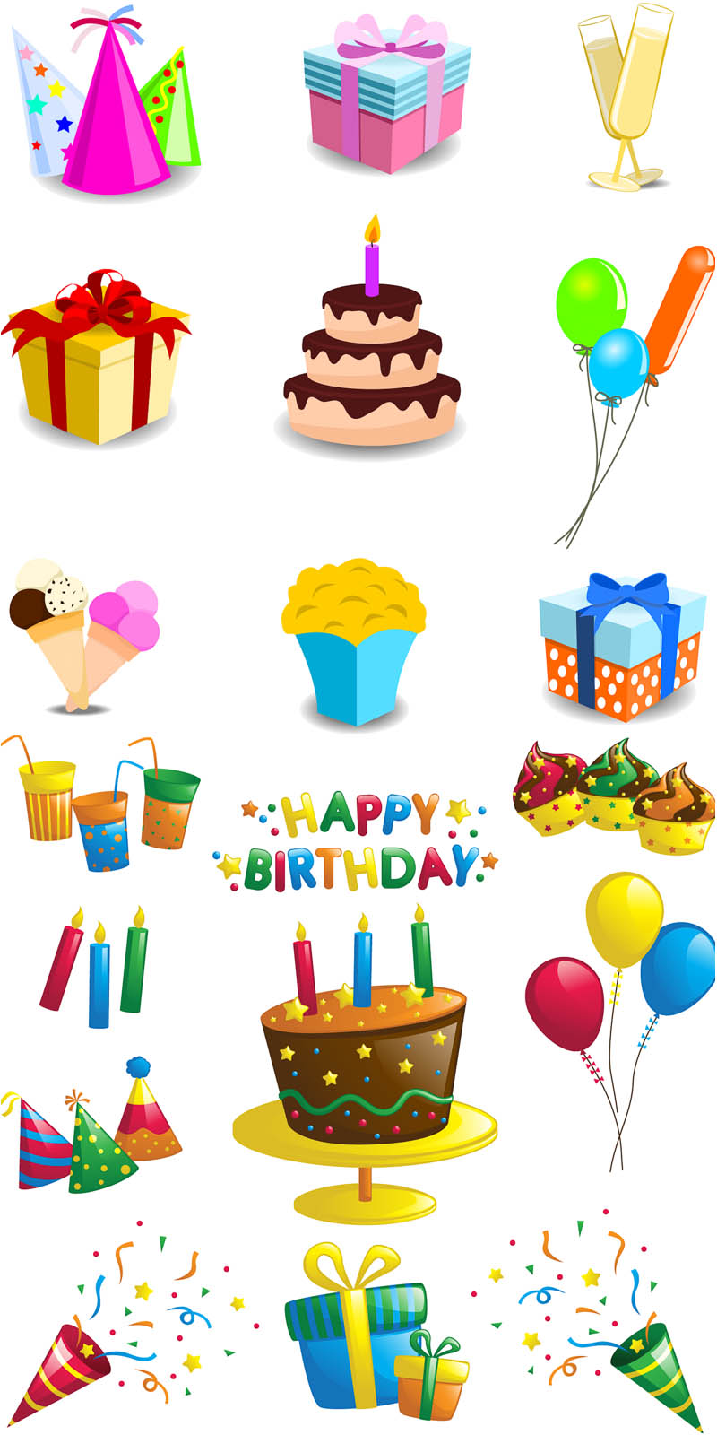 Happy Birthday Cartoon Decorations