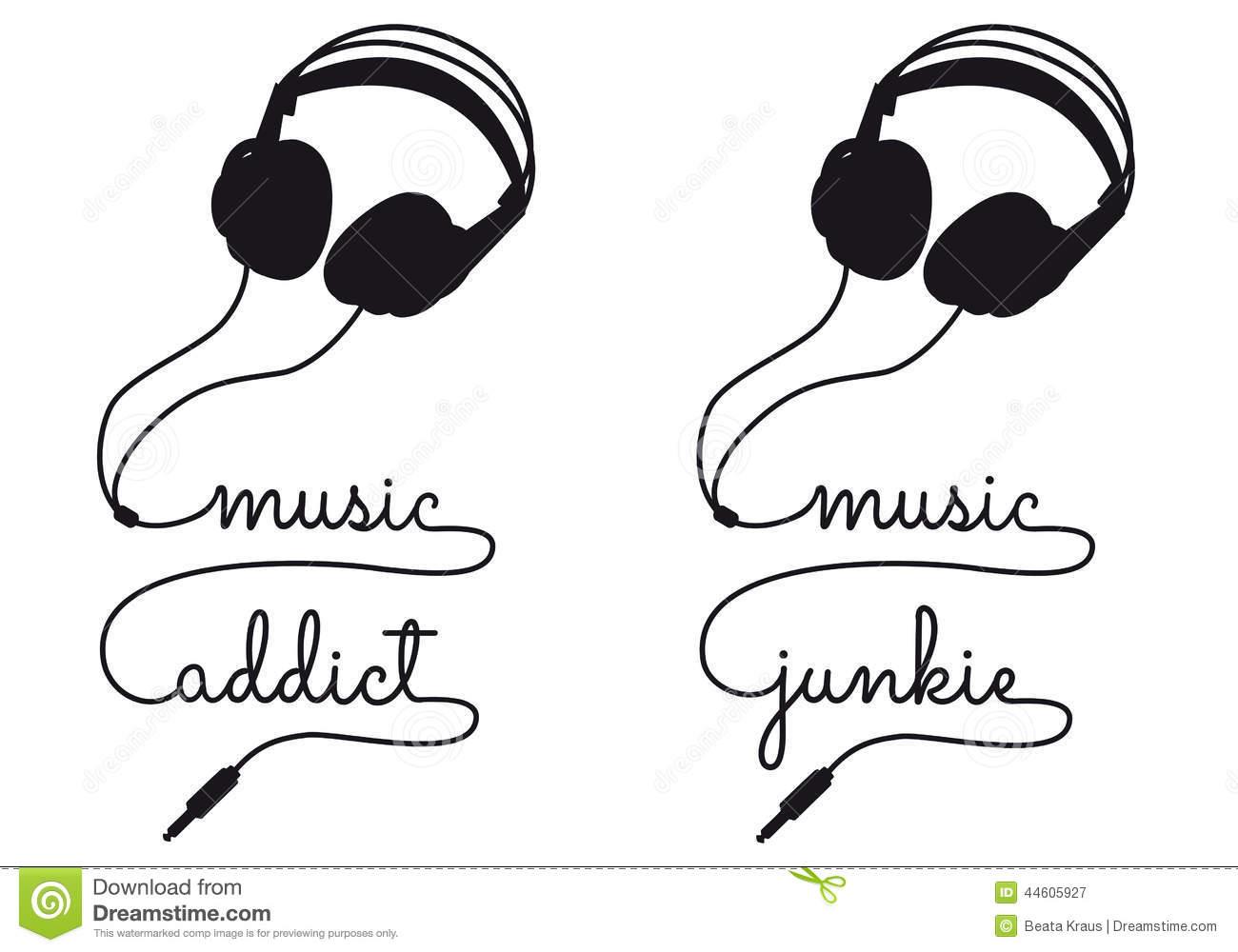 Headphones Music Vector Illustration