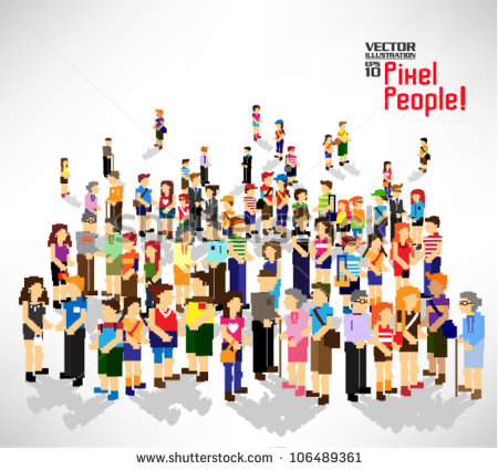 11 Large Group People Vector Images
