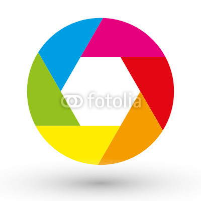 Logo with Circle Colorful