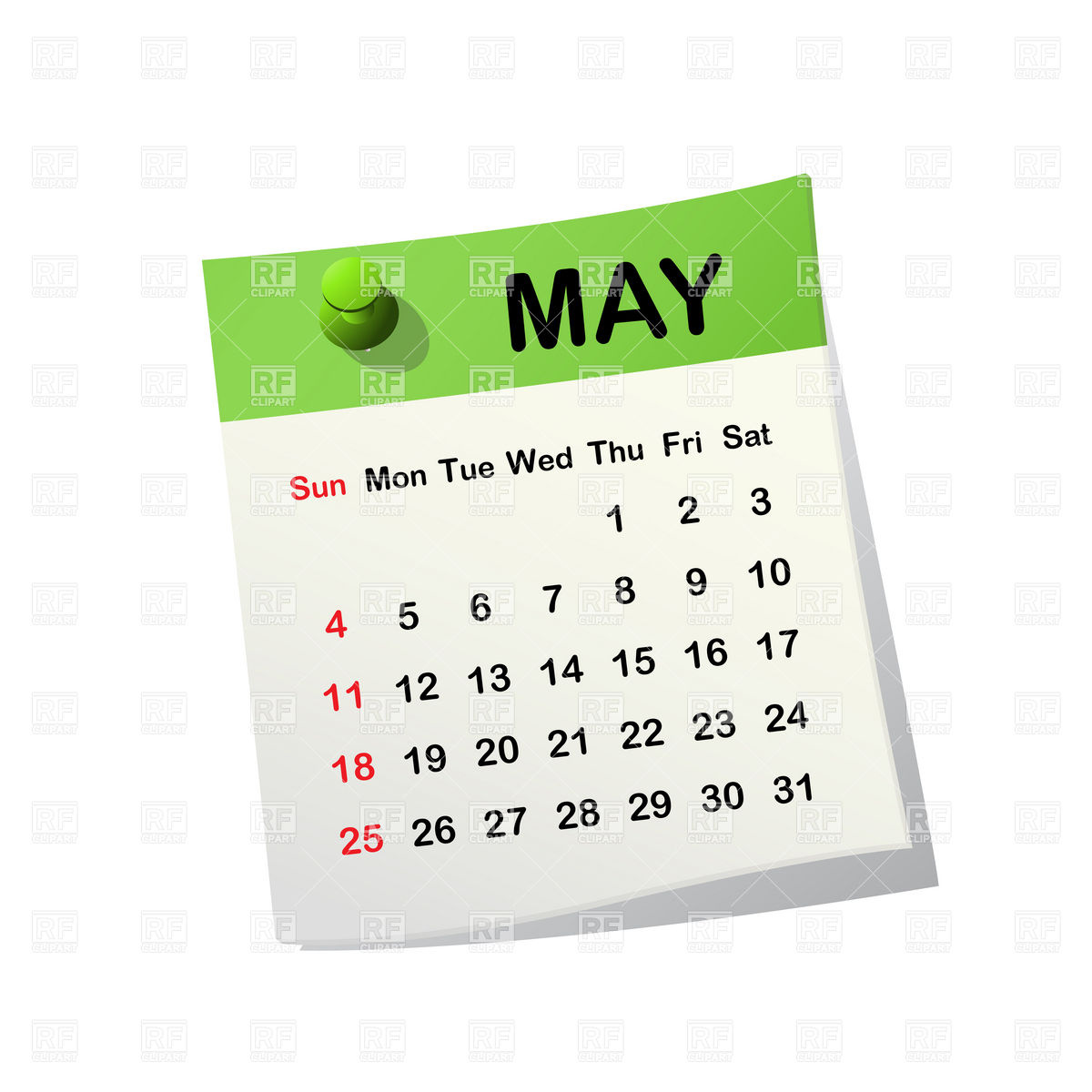 May 2014 Month Calendar