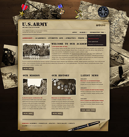 Military ID Card Template