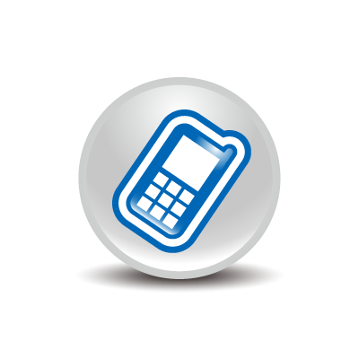 Mobile Phone Icon Blue